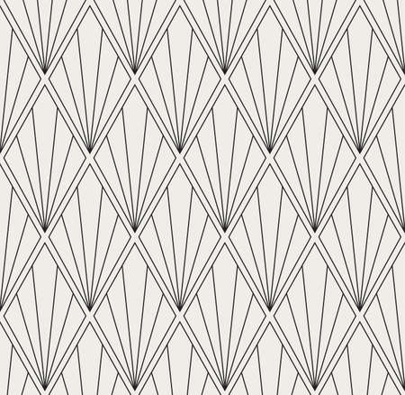 Vector Art Deco Style Seamless Pattern. Abstract Ornament Background. Banco de Imagens - 151222194