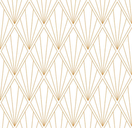 Vector Art Deco Style Seamless Pattern. Abstract Ornament Background. Banco de Imagens - 151222196