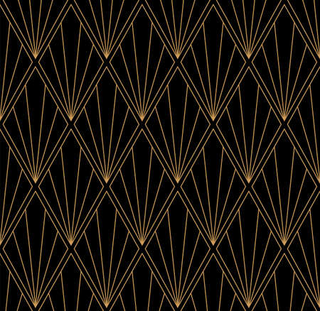 Vector Art Deco Style Seamless Pattern. Abstract Ornament Background. Banco de Imagens - 151222197