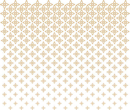 Vector Floral Art Deco Seamless Pattern.