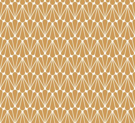 Classic Leaves Art Deco Seamless Pattern. Geometric Leaf Stylish Texture. Abstract Feather Retro Vector Texture.