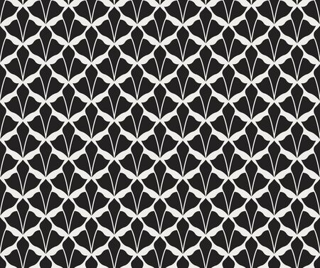 Abstract Art Deco Seamless Background. Geometric  Scale Pattern.