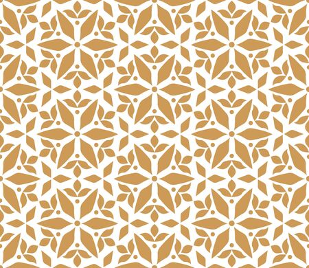 Vector Seamless Pattern with Mandala. Decorative Abstract Floral Background. Çizim