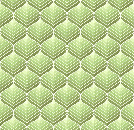 Geometric trendy leaves vector seamless pattern. Abstract symmetry vector texture. Leaf background. Banco de Imagens - 150545897