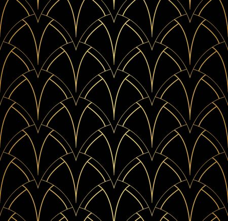 Vector Abstract Seamless Pattern. Art Deco Style Background. Geometric texture. Banco de Imagens - 150545873