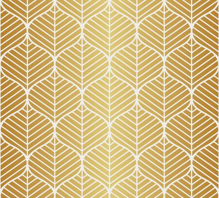 Vector Leaf Seamless Pattern. Abstract leaves texture. Vectores