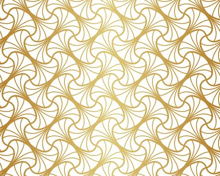 Vector abstract arabesque seamless pattern. Geometric classic background. Vintage art deco texture. Vectores