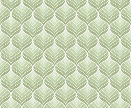 Vector illustration of leaves seamless pattern. Organic floral background. Trendy leaf texture. Stock Illustratie