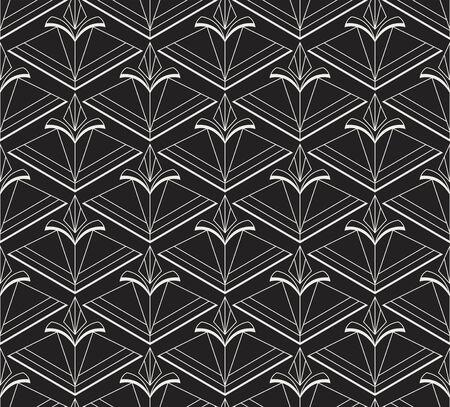 Geometric Diamond Vector Seamless Pattern. Abstract Art Deco Background. Classic Stylish Texture.
