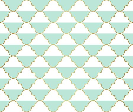 Vector abstract arabesque seamless pattern. Geometric classic background. Vintage art deco texture.  イラスト・ベクター素材