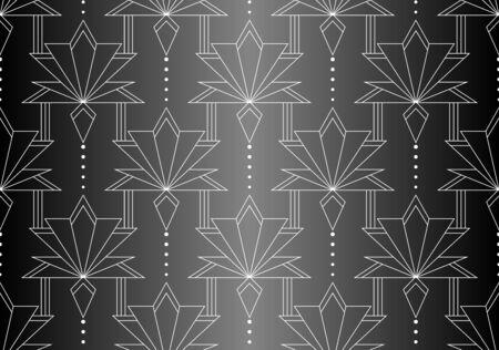 Seamless Art Deco Pattern. Vintage geometric minimalistic background. Abstract Luxury Illustration.  イラスト・ベクター素材