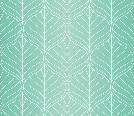 Geometric leaves vector seamless pattern. Abstract vector texture. Leaf background.  イラスト・ベクター素材