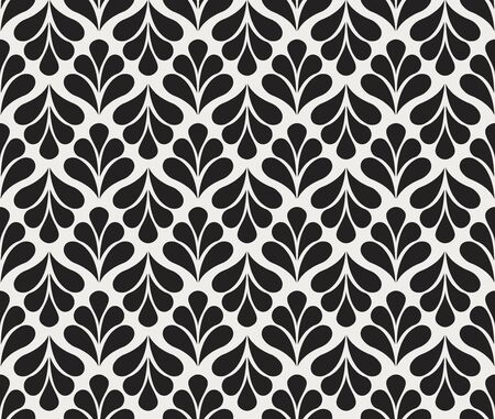 Vector Classic Floral art nouveau Seamless pattern. Stylish abstract art deco texture.  イラスト・ベクター素材