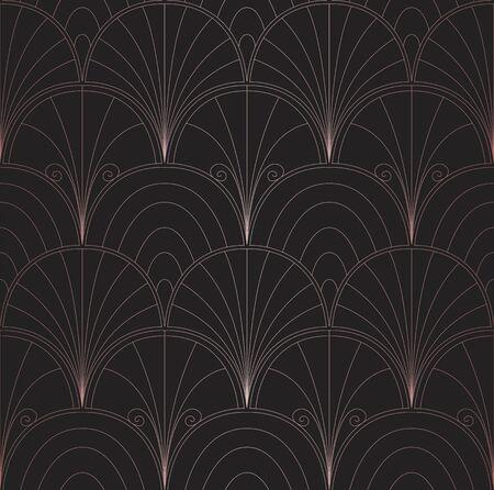 Classic Art Deco Seamless Pattern. Geometric Stylish Texture. Abstract Retro Vector Texture.