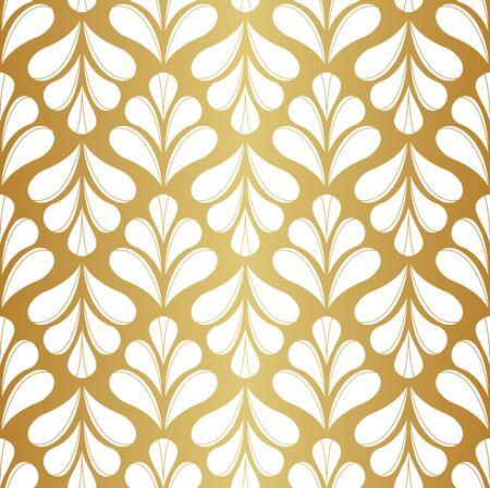 Elegant Floral Damask Vector Seamless Pattern. Decorative Flower Illustration. Abstract Art Deco Background.  イラスト・ベクター素材