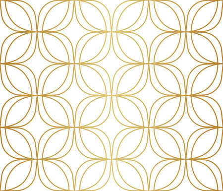 Abstract Decorative Tile. Geometric Ginkgo Seamless Pattern. Floral background. Banco de Imagens - 151222248
