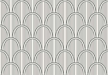 Vector abstract seamless pattern. Geometric classical background. Retro stylish texture. Banco de Imagens - 151222251