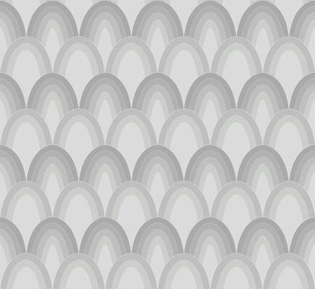 Vector Art Deco Style Seamless Pattern. Abstract Ornament Background. Banco de Imagens - 151222408
