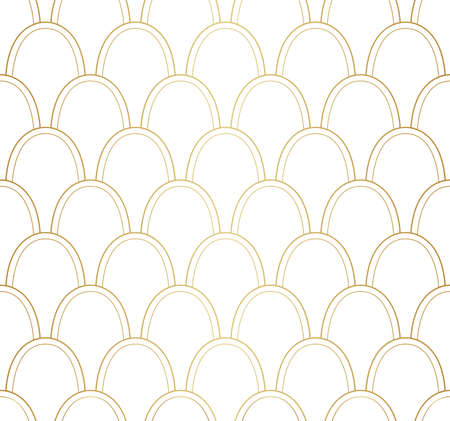 Seamless Art Deco Pattern. Stylish antique background. Banco de Imagens - 151222414
