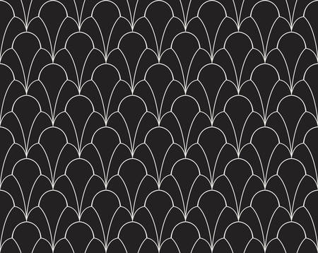 Vector Classic Floral art nouveau Seamless pattern. Stylish abstract art deco texture. Illustration