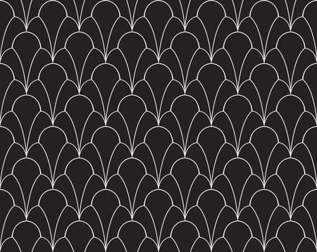 Vector Classic Floral art nouveau Seamless pattern. Stylish abstract art deco texture. Ilustração