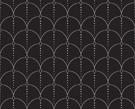 Classic Art Deco Seamless Pattern. Geometric Stylish Texture. Abstract Retro Vector Texture. Standard-Bild - 151222444