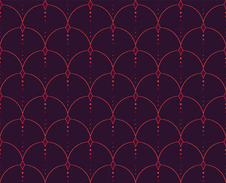 Classic Art Deco Seamless Pattern. Geometric Stylish Texture. Abstract Retro Vector Texture. Banco de Imagens - 151222446