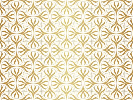 Seamless Arabesque Floral Pattern. Art Deco Style Background. Vector Abstract Flower Texture.  イラスト・ベクター素材