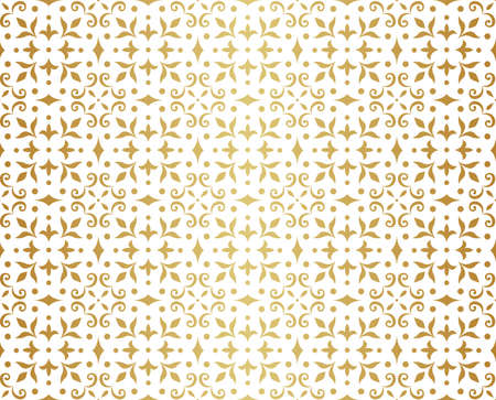 Seamless Arabesque Floral Pattern. Art Deco Style Background. Vector Abstract Flower Texture. Banco de Imagens - 151222452