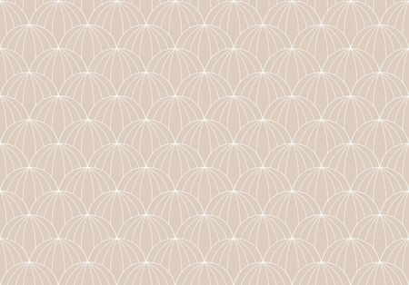 Vector floral abstract seamless pattern. Geometric classical background with leaves. Retro stylish texture. Banco de Imagens - 150545907