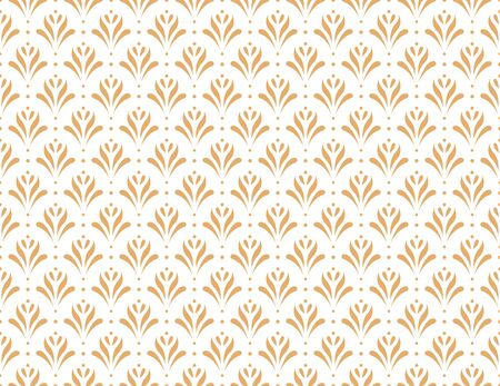 Vector floral damask seamless pattern. Elegant abstract art nouveau background. Classic flower motif texture. Banco de Imagens - 150545918