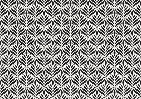 Motivo floreale arabesco senza soluzione di continuità. Sfondo in stile Art Déco. Struttura astratta del fiore di vettore.