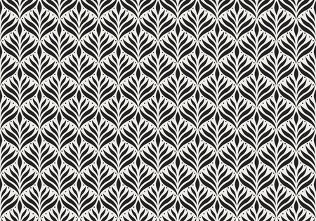 Seamless Arabesque Floral Pattern. Art Deco Style Background. Vector Abstract Flower Texture. 向量圖像
