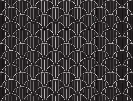 Seamless Arabesque Floral Pattern. Art Deco Style Background. Vector Abstract Flower Texture. Standard-Bild - 151222501