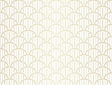 Seamless Arabesque Floral Pattern. Art Deco Style Background. Vector Abstract Flower Texture. Illustration