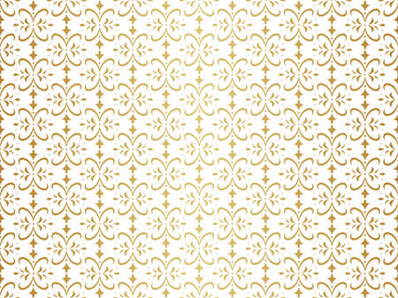 Seamless Geometric Art Deco Pattern. Abstract vector floral background. Banco de Imagens - 151222506