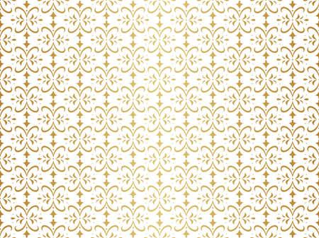 Vector Floral Art Nouveau Seamless Pattern. Geometric decorative leaves texture. Retro stylish background. Standard-Bild - 151222558