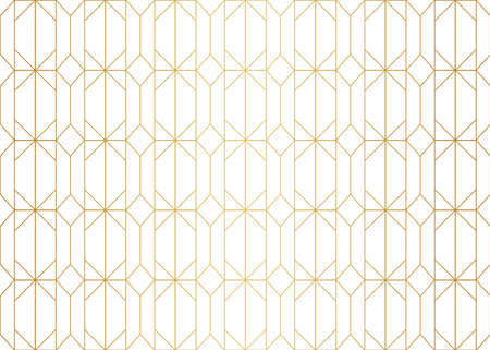 Seamless Art Deco Pattern. Stylish antique background. Banco de Imagens - 151222565