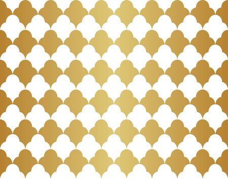 Seamless Geometric Art Deco Pattern. Abstract vector floral background. Banco de Imagens - 150545938