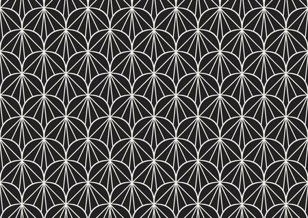 Seamless Geometric Art Deco Pattern. Abstract vector floral background. Banco de Imagens - 150546172