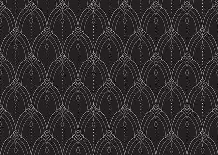 Classic Art Deco Seamless Pattern. Geometric Stylish Texture. Abstract Retro Vector Texture. Banco de Imagens - 151629471