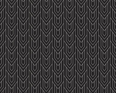 Abstract Art Deco Seamless Background. Geometric Fish Scale Pattern. Banco de Imagens - 150546177