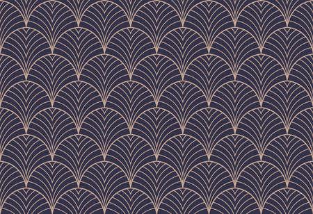 Art deco seamless pattern. Abstract vector background. Geometric elegant texture. Ilustracje wektorowe