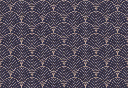 Art deco seamless pattern. Abstract vector background. Geometric elegant texture. 向量圖像
