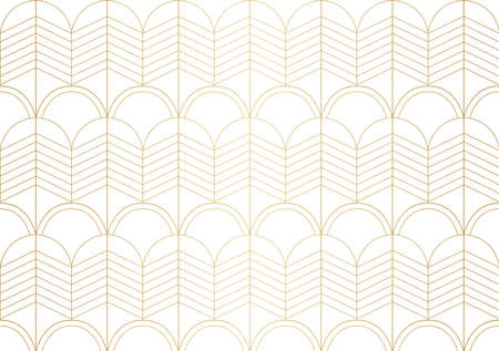 Art Deco Seamless Pattern Background. Geometric decorative texture. Banco de Imagens - 151222575
