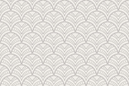 Vector Abstract Seamless Pattern. Art Deco Style Background. Geometric texture. Banco de Imagens - 151222582