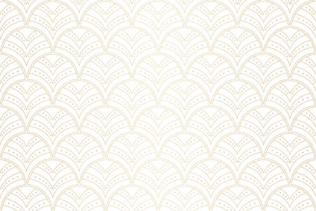 Vector Abstract Seamless Pattern. Art Deco Style Background. Geometric texture. Banco de Imagens - 151222583