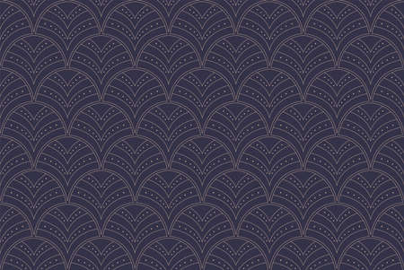 Vector Abstract Seamless Pattern. Art Deco Style Background. Geometric texture. Banco de Imagens - 151222584