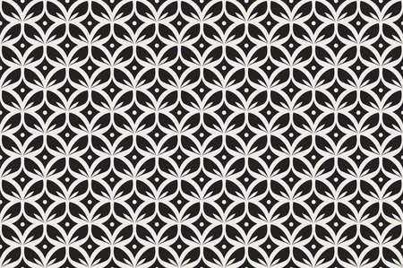 Vector Abstract Seamless Pattern. Art Deco Style Background. Geometric texture. Banco de Imagens - 151222585