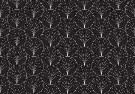 Vintage Art Deco Seamless Pattern. Geometric decorative texture.